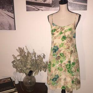 HD in Paris (Anthro) silk floral cami dress sz 4